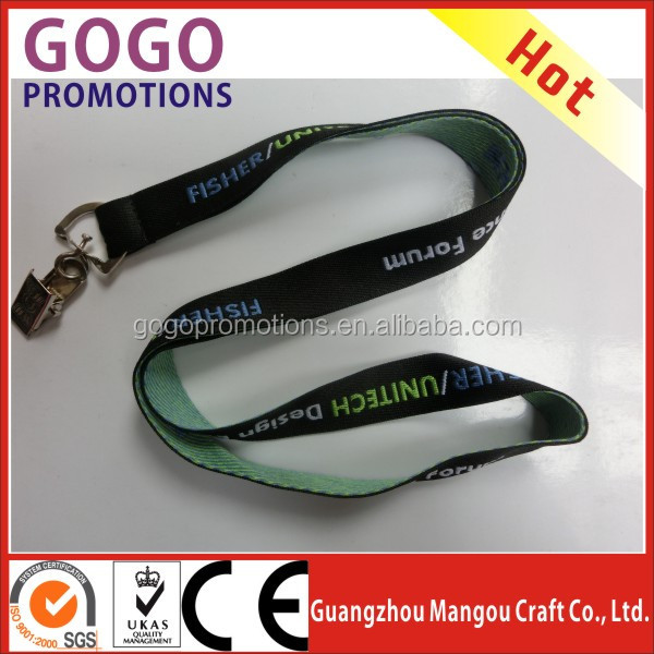 Hottest various styles ECO friendly polyester lanyard,high quality lanyard,lanyard with dog clip for staff