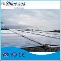 Green vacuum tube solar collector with water tank for hotel,swimming pool