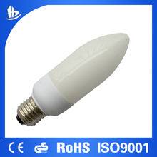 GS, EMC, RoHS, EuP, ISO9001 approved Hot Sale 11W Candle bulb/saving enery lamp& CFL E27/E14