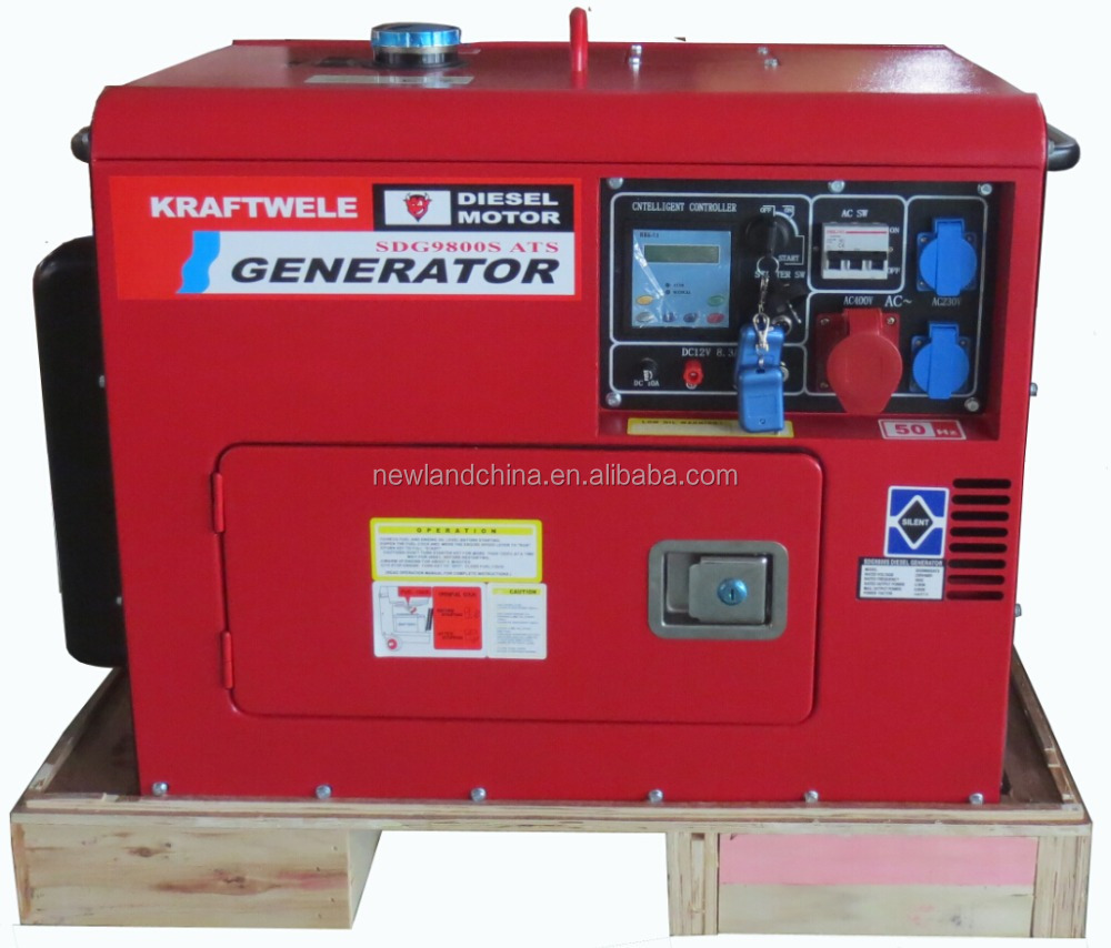 silent type 220V50hz electric start 100% copper 186FA 5kva <strong>diesel</strong> used generators in germany