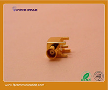 elbow RF PCB coaxial MCX connector female