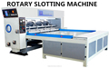 automatic rotary creasing and slotter machine