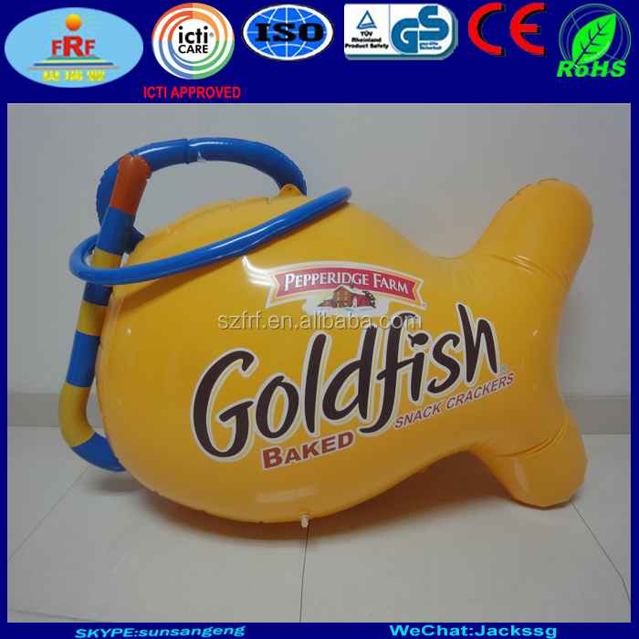 Pepperidge Farm Goldfish Inflatable Snorkel and Mask for snack crackers advertising