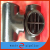 Hebei hot selling pipe fittings reduce pipeline barred tee