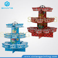 decorative folding cake stand/decoration paper cupcake stands display racks