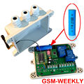GSM remote control box rechargable battery on board for alarm input
