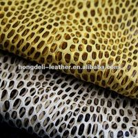 snake skin fabrice for shoe and bag bonded leather fabric shoe material