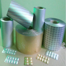 Tablet pills medicine packaging aluminium foil, pharmaceutical blister foil