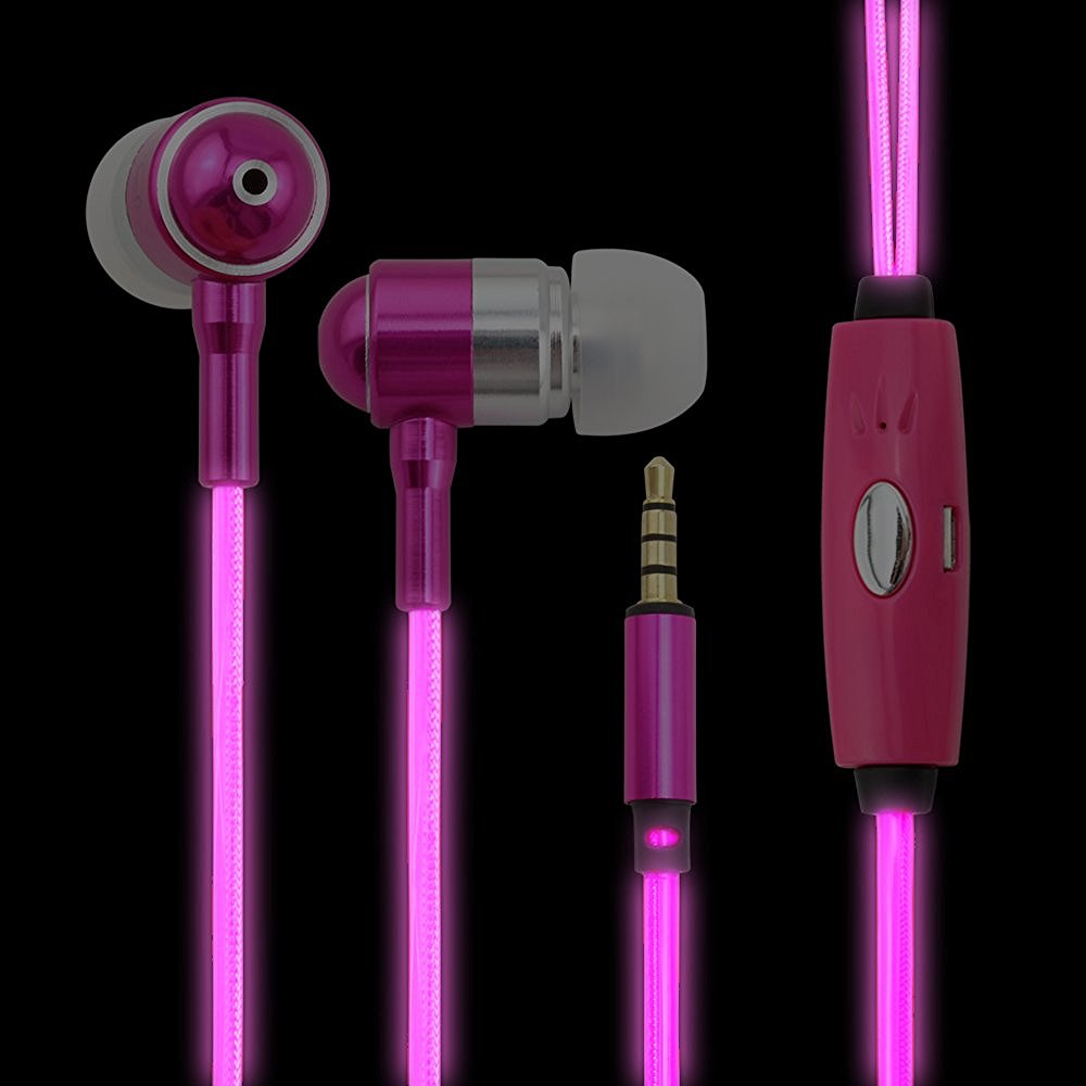 Mobile Phone Use and 3.5mm Connectors wire led running light earphone