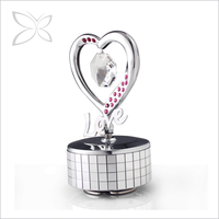 Special Price Harmony Chrome Plated Metal Wedding Music Box