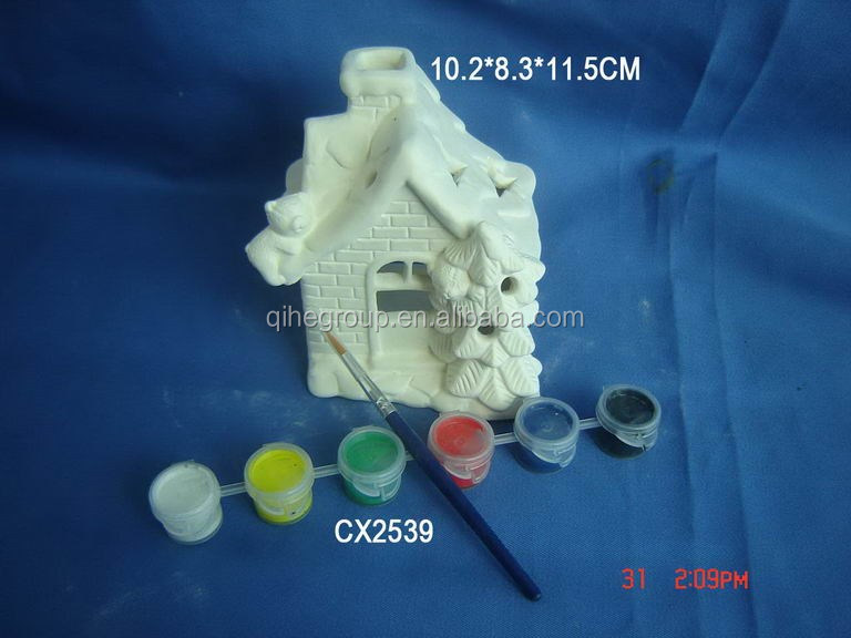 China best selling ceramic christmas decoration diy paint set