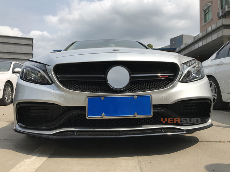 Auto tunning for Mercedes Benz C63 W205 front grille bumper star grille available