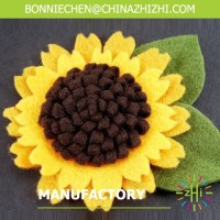 promotional high quality felt flower brooch ZZFB023