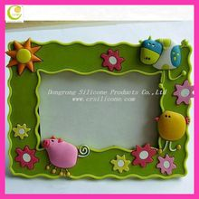 2012 New style Promotional custom eco-friendly Soft pvc/silicone cheap photo paper frames