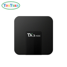 2018 best smart tv box TX3 MINI Amlogic S905W 1G 8G Android 7.1 TV BOX with led display Pre-installed KD player 17.5