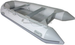 3.7m inflatable boat with aluminum floor v bottom