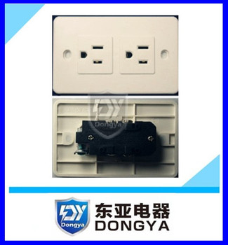 USA model double gang wall socket CE approved