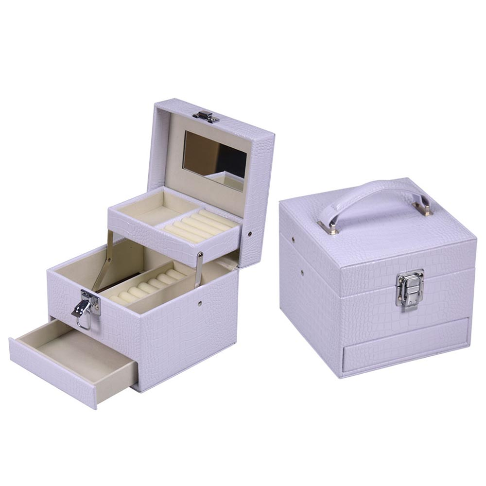 Factory Can Custom Logo Jewelry Box with Drawer Style