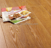 Solid distressed handscraped wire brushed white oak wood flooring(AB grade)