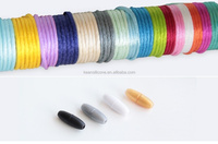 Clasp/ Silicone Silk cord and Clasp for DIY Beads Jewelry Silicone Necklace