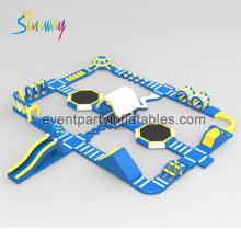 Factory Customized Inflatable Sport Game , Giant Inflatable Obstacle Course Giant Water Park For Adults