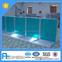 AEOMESH Metal Expandable Temporary Traffic Barrier Stage Barrier