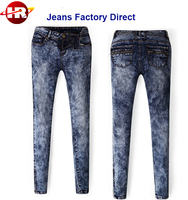 Custom Skinny Fitting Women Funky Jeans HR-WP063