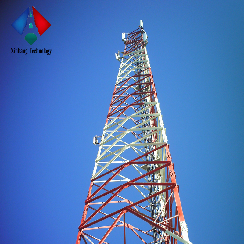 mobile communication pole / tower price cell phone tower