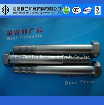 Standard size high quality m10x1.25 stainless steel bolt