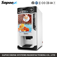 Sapoe SC-8703BC3H3-S cooling and heating automatic instant coin operated tea coffee vending machine