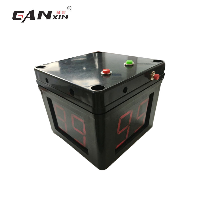 Ganxin  Digital Countdown Electronic Dealer Button Official Battery Powered  4 Sides Black Poker Tournament Timer