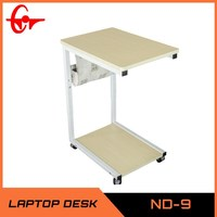 2014 the latest product small folding table on bed height adjustable table ND-9