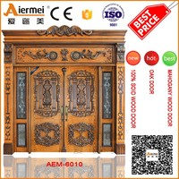 large front main door solid wooden double door for house entrance