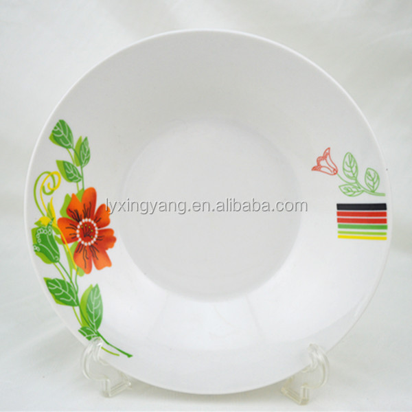 Best quality China disher grace designs dessert plate flat plate/dishes , kitchen wares, commercial plate