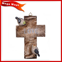 antique color handmade resin cross handicraft for decoration