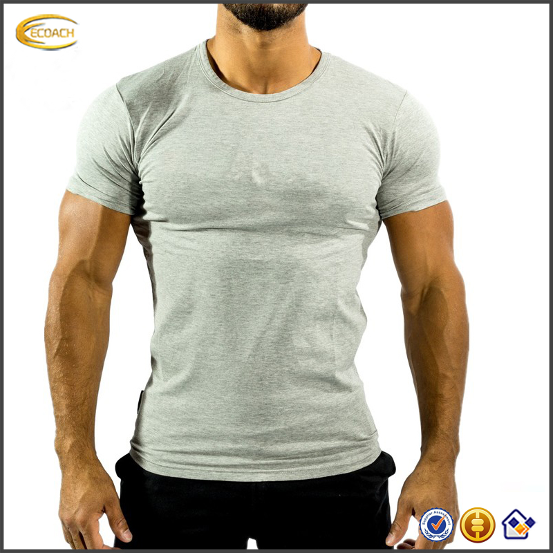 2017 NEW Tight Fitted Gym Print T Shirt Custom Men T Shirt For Fitness Wear