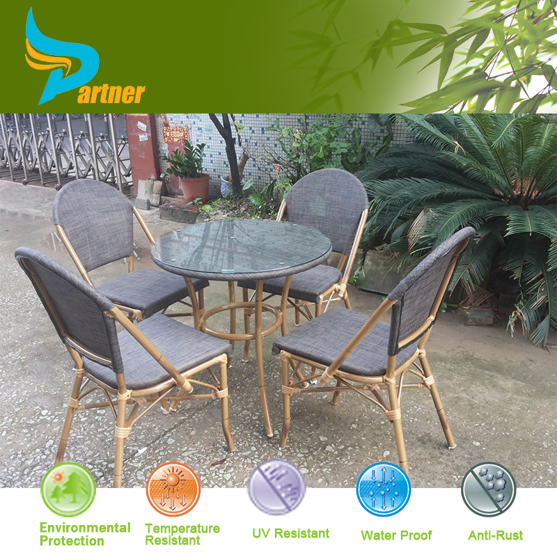 Italian style modern bamboo look dining set outdoor for Outdoor furniture italy