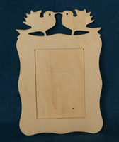 decorate manufacturer cheap custom carving promotional wooden photo frame with two birds
