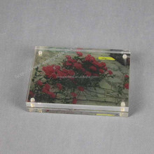 4x6 inches and 5x7 inches magnets joined acrylic block picture photo frame
