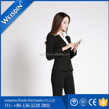 anti-wrinkle new style women formal business suits tuxedos contrast colour suit