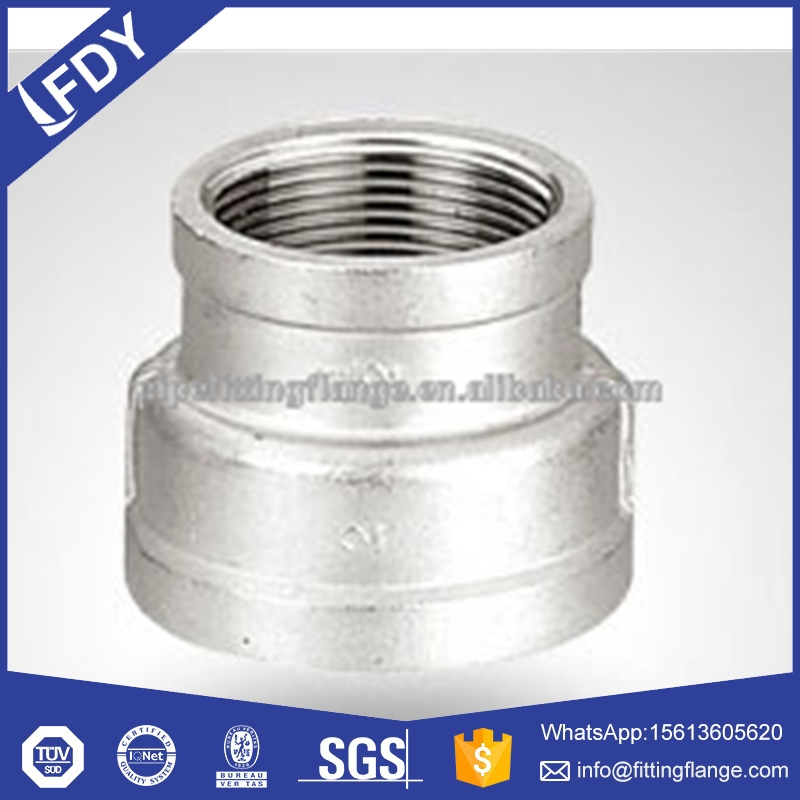 Bsp NPT Threaded / Screwed Hydraulic Stainless Steel Reducer Socket Banded