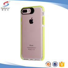 Double Layer Transparent TPU Colorful Crystal Bumper Mobile Phone Case For iphone6s plus