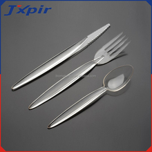 Transparent Plastic knife and fork Disposable Clear Plastic Travel Cutlery set