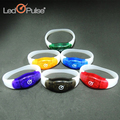 LED sound sensor or motion sensor flashing silicon bracelets wristbands