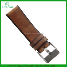 24mm brown Watch Band High quality Genuine Leather Strap with Stainless Steel Buckle