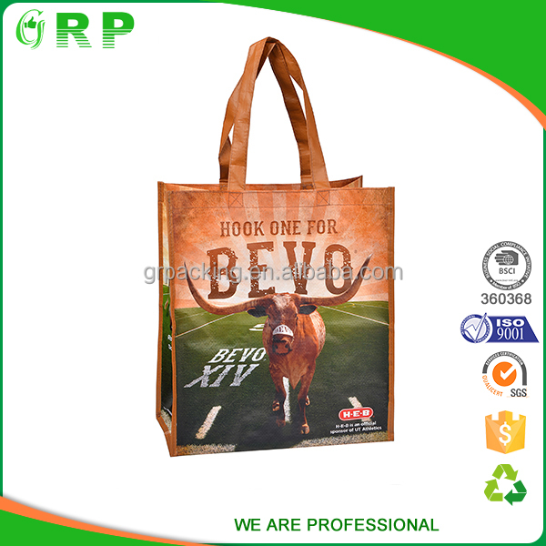 BSCI ISO Customized recyclable easy carrying loop shopping bag