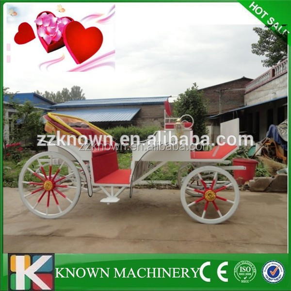 2 rows sightseeing horse carriage for wedding tourist cart/wagon