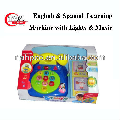 English & Spanish Learning Machine with Lights & Music