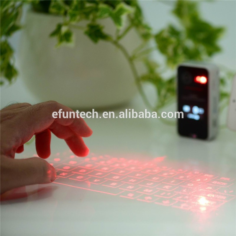Alibaba Hot selling Wireless Bluetooth Virtual Laser projection Keyboard for pad phone and PC