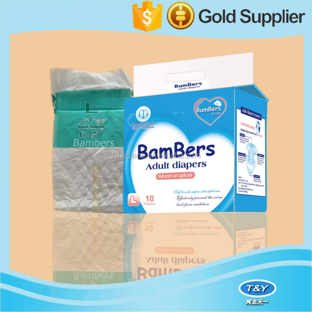2015 hot selling adult diapers in indonesia